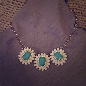 Flower with crystal embellishment necklace